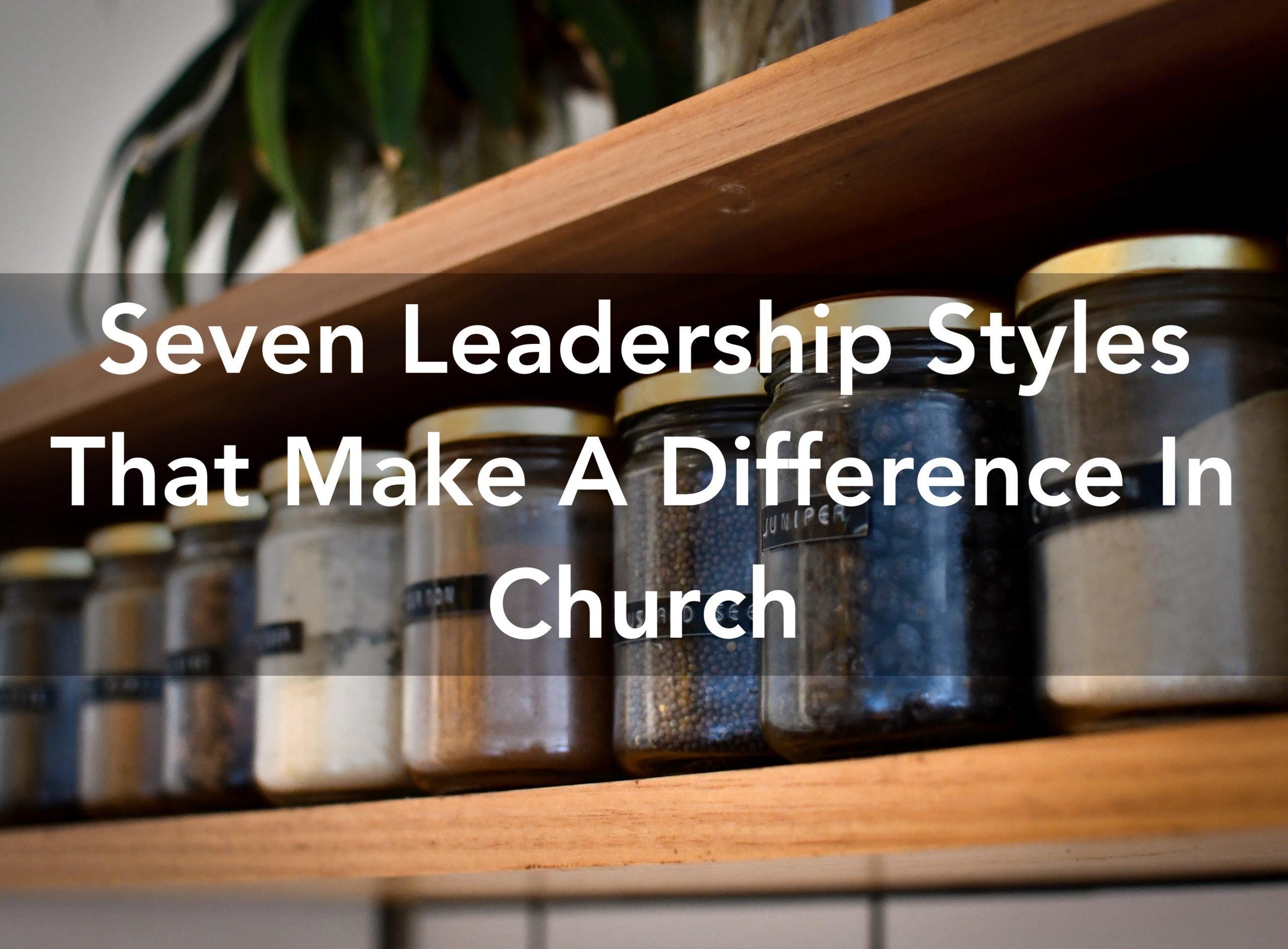leadership styles in church